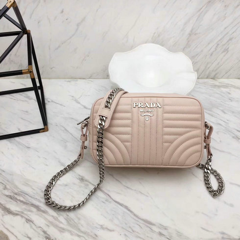 d495d62fb8d7 2018 S S Prada Diagramme Leather Cross-body Bag in Nude  1BH08305 ...