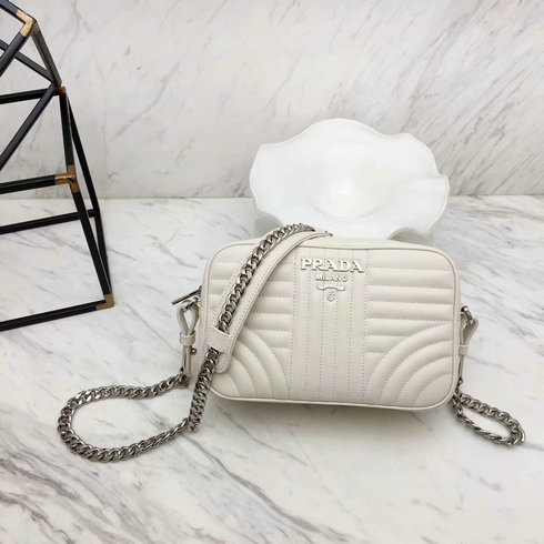 fc65b795be204f 2018 S/S Prada Diagramme Leather Cross-body Bag in White [1BH08304 ...