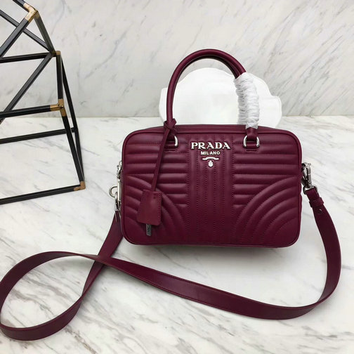30ab7bb7879d 2018 S S Prada Diagramme Handbag 1BB113 in Calfskin Leather larger image