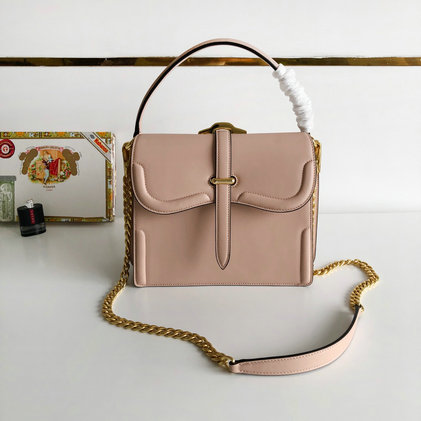2019 Prada Belle Bag in Cameo Calf Leather