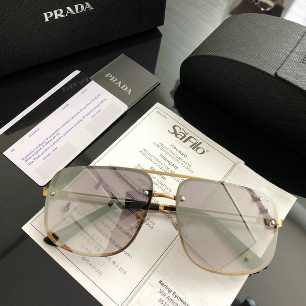 2019 Prada Conceptual 53VS Sunglasses with rectangular frame