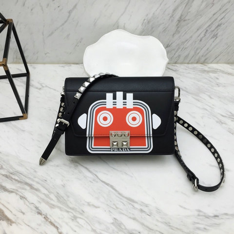 2019 Prada Elektra Bag in printed leather