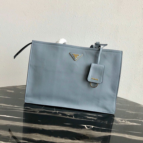 2019 Prada Etiquette Tote Bag in Calf Leather