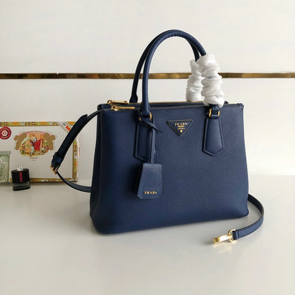 2019 Prada Galleria Saffiano Leather Bag 1BA232 in Blue