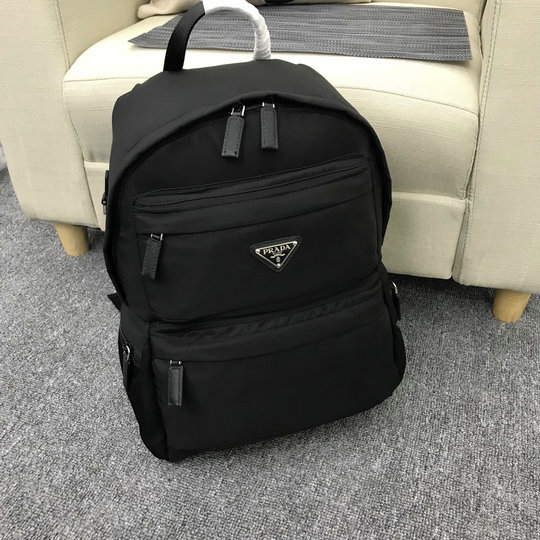 2019 Prada Nylon Backpack 2VZ025 in Black