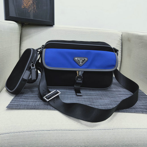 2019 Prada Nylon and Saffiano Leather Messenger Bag for Men