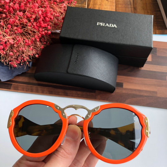 2019 Prada SPR 09T Oversized Round Sunglasses for Women