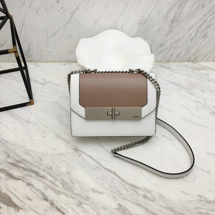 2019 Prada Severine Leather Bag in Bicolor Leather