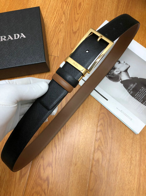 2019 Prada Saffiano Leather Belt for Men