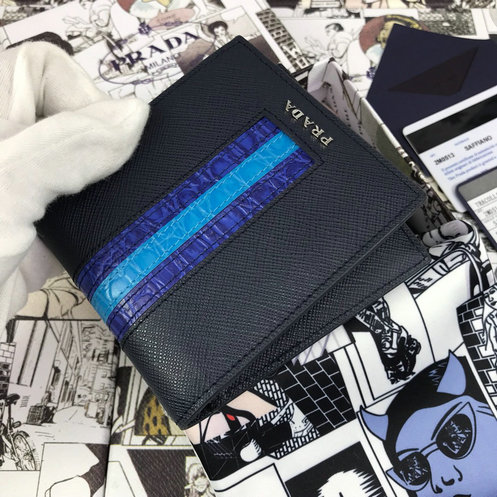 2019 Prada Small Saffiano Leather Wallet 2M0513