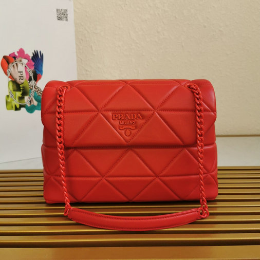 2020 Prada Large Spectrum Bag in Red Nappa Leather