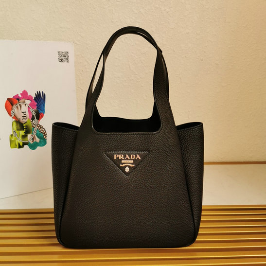 2020 Prada Leather Handbag in Black with nappa leather lining