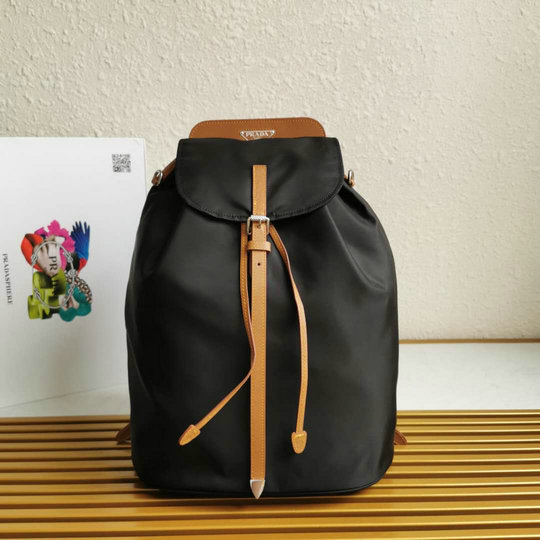 2020 Prada Nylon and Saffiano Leather Backpack 1BZ064