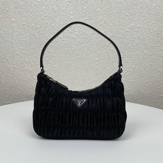 2020 Prada Nylon Mini Bag with saffiano leather trim
