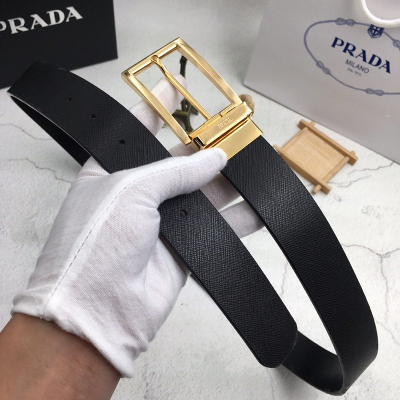 Prada Saffiano Leather Belt for Men