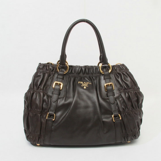Free Gift for order amount over 900AUD-Prada Chocolate Lambskin Leather Bag BN1793