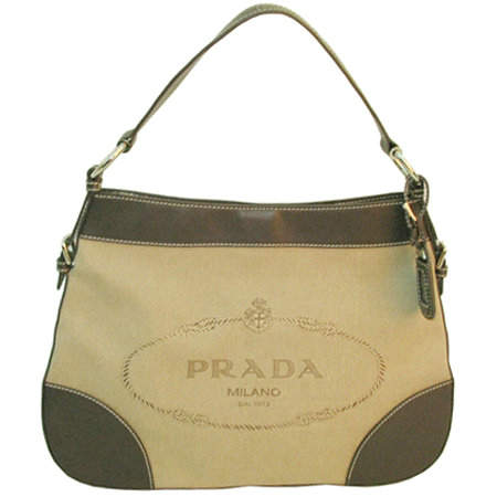 Prada Shoulder Bag in Apricot Chocolate