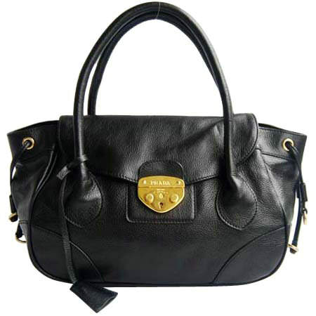 Prada Flap Shoulder Bag in Black