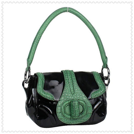 Prada Black Green Shoulder Bag - Click Image to Close