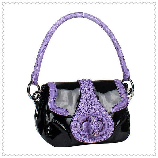 Prada Shoulder Bag in Black/Purple