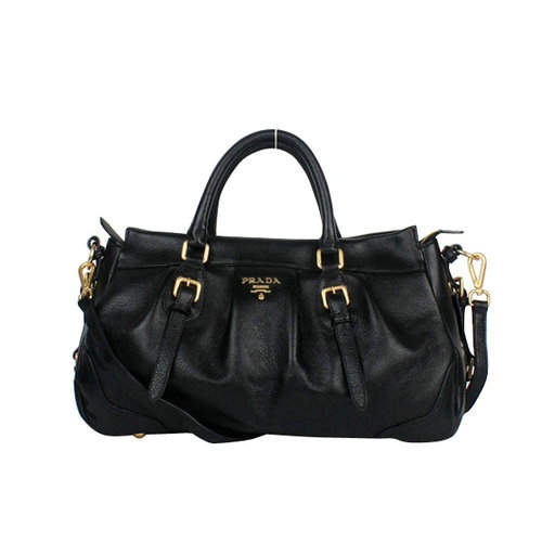 Prada Black Top Handles