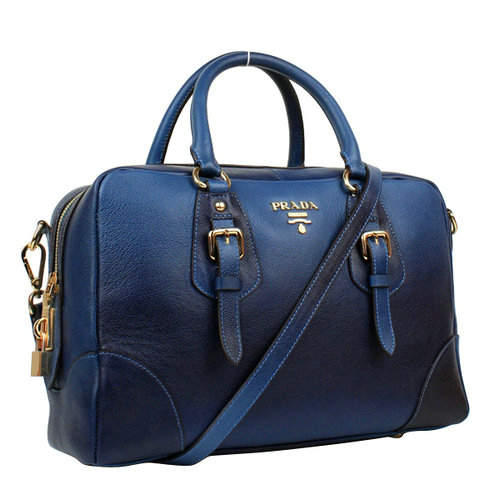 Prada Blue Top Handles