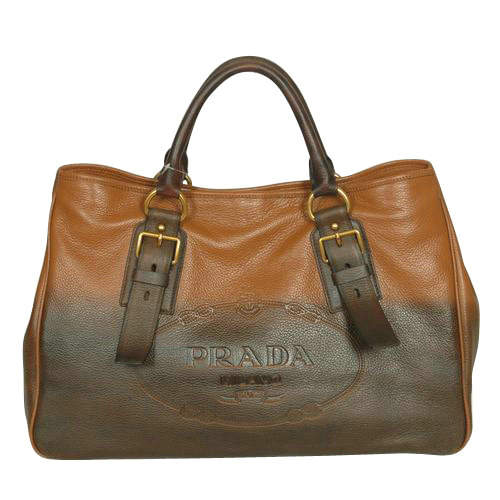 Prada Brown Square Top Handles
