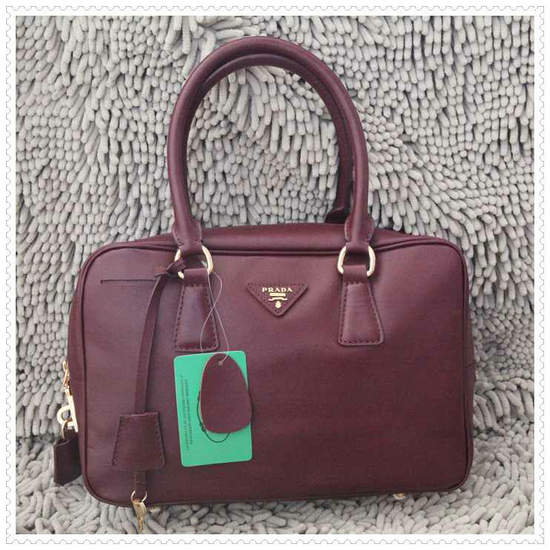 Prada Burgundy Top Handle
