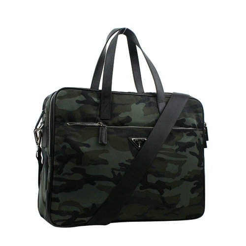 Prada Camouflage Army Green Tote Bag