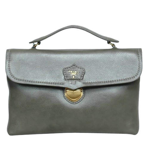 Prada Dark Green Top Handles