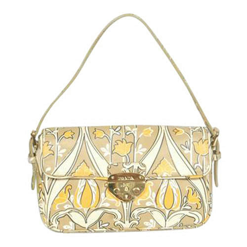 Prada Golden Print Floral Sling Bag