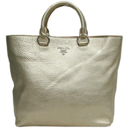 Prada Metallic Silver Top Handles