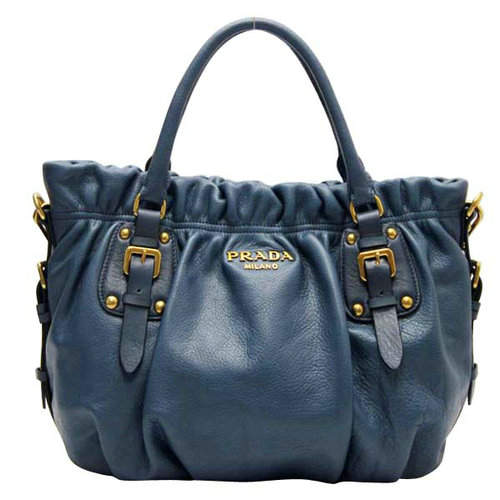 Prada Navy Blue Top Handles