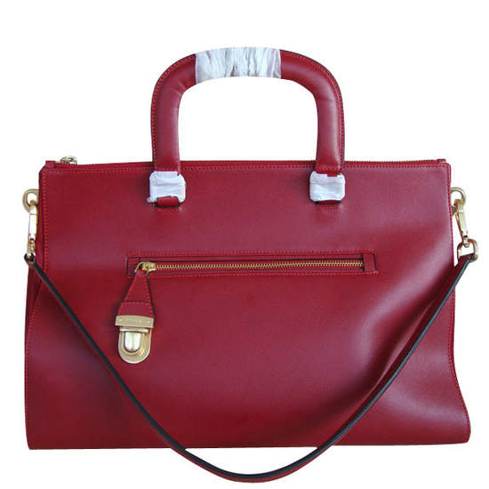 Prada Red Top Handles