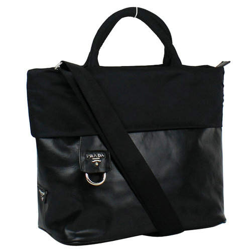 Prada Reflexed Black Top Handles