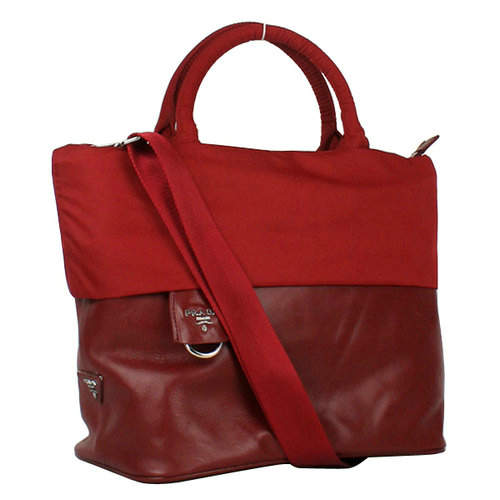 Prada Reflexed Red Top Handles