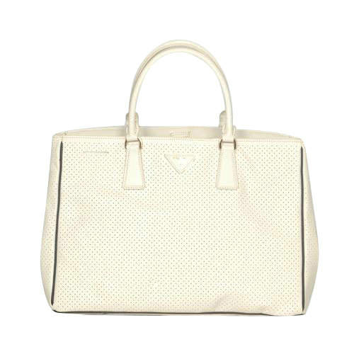 Prada Square Top Handles in White