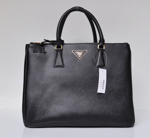2012 Prada Saffiano Lux Tote Bag Black Leather BN1786