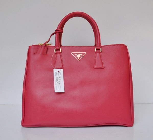 2012 Prada Saffiano Lux Tote in Rose Red Leather BN1786