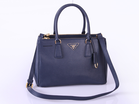 2012 Prada Small Saffiano Lux Tote Bags Blue Leather BN1801