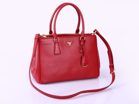 2012 Prada Small Saffiano Lux Tote Bags Red Leather BN1801